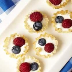 Mini Berry Cream Pies